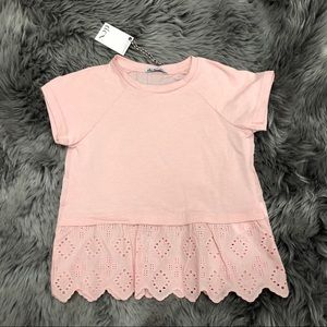 Dex Crochet Trim T-Shirt (PM689)